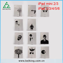 Cute Clear PC Hard Case for ipad mini 1/2/3 DIY Plastic Case