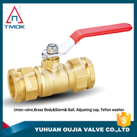 1/2 inch high pressure PTFE full port and nipple lockable cock valve hydraulic one way brass ball valve