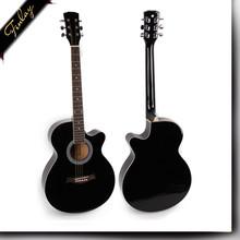 chinese OEM brand high gloss black semi acoustic guitar FS-4014