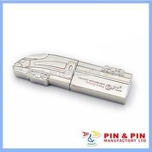2014 más nuevo, palo de usb de aleación de zinc de perlas de níquel forma creativa personalidad