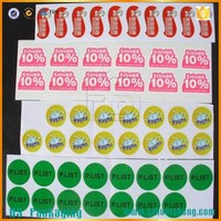 factory wholesale custom adhesive label qc passed sticker indicative label