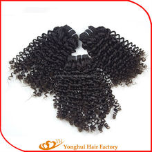 Natural colour best sell curly indian humanhair extensions