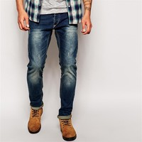 new trendy twister slim distress fit denim jeans pent