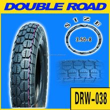 Size 350-8 motorcycle tyre with ISO9001 certification