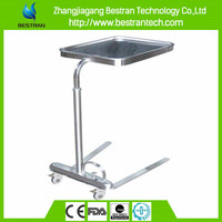 BT-SMT004 304 stainless steel operation room tray tables with wheels