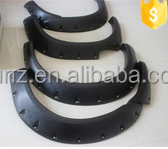 ABS plastic hilux fender flares for ranger 2012 car wheel arch fender flare black 4x4 accessories