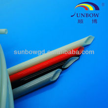 UL RoHS Reach approval high temperature flame retardant insulation white silicone fiberglass tube pipe sleeve for transformers