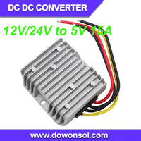 75W 12v/24v to 5v dc dc converter battery for electric bicycle