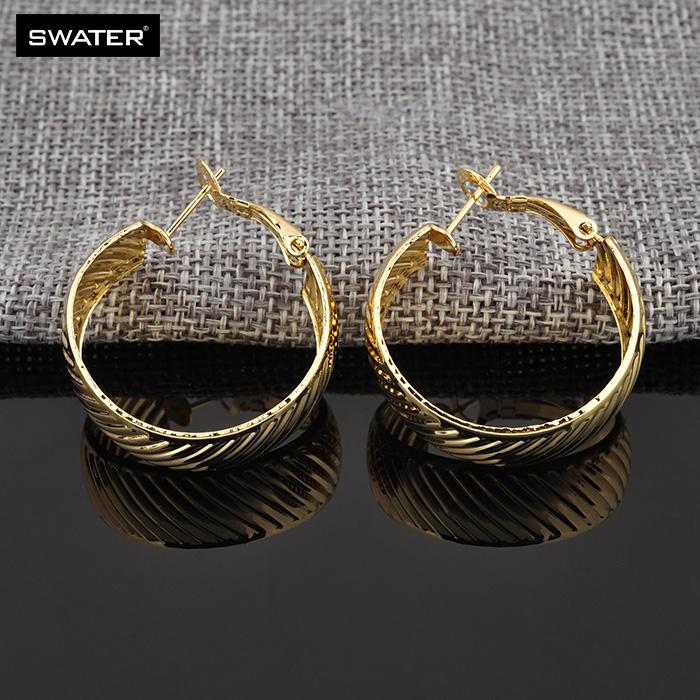 New 2018 Latest Fancy Simple 2 Gram gold Beautiful Earrings Designs For Women Girls,Dubai Gold Hoop Earrings Jewelry