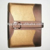 LN-395 Hot-selling Leather Spiral Notebook Cover with clasp
