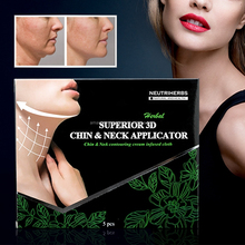 Customized Disposable Cosmetic Applicator 3D Chin& Neck with Non- woven Conturing Slimming Cream for Chin a fat