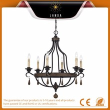 2015 Popular 6 Light Single Tier Candle Style modern Chandelier China supplier