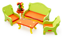 DIY Assembly Wooden Furniture Toy, Living Room Set