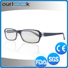 Factory Supply Hot Popular Fashion Anti Blue Ray Wide Temple Metal Optical Frame