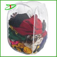 Wholesale promotion mesh washing bag, trendy drawstring mesh bag
