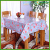 Pink flower printed white pvc waterproof table cloth in China Manufacturer