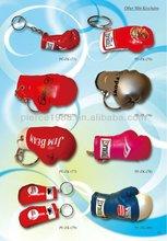 hot sell mini boxing glove keychain/pvc fabric boxing keychain