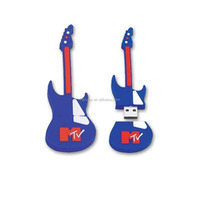 2015 top sale novelty guitar USB, PVC USb flash drive