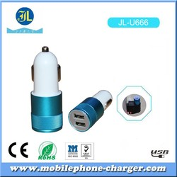 Metal type shape Car Charger new design USB output with USB date Cable for Android Smartphone