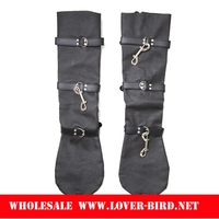 Black long-barreled hand irons and handcuffs binding instrument leg irons plush male female adult sex toys