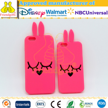 Custom animal shape eco-friendly silicone lovely and beautiful mobile phone back cover