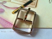 41544636216 High-grade leather accessories DIY Manual on the word pin buckle diameter 2.2cm silver (*10)