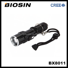 BX8011 Lens focus and zoom 500meters long distance CREE rechargeable 10w led torch