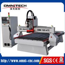 De China CNC ROUTER ATC tipo lineal, 2.2kw 3kw 4.5kw 1325 enrutador CNC de madera 3D