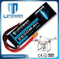 Upower 2200mah 3s1p rechargerable battery for rc remoted control for UAV FPV airplane models