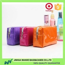 Salable pu leather travel cosmetic bag with mirror with high quality