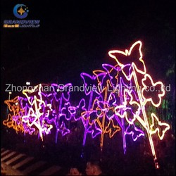 Outdoor LED rope light butterfly park lighting decor