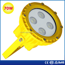 china supplier high quality tempered glass waterproof industrial led explosion proof lighting 70w