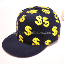 China factory custom wholesale 2015 new fashionable child dollar snapback hat