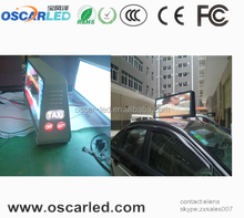 Energy saving full color HD LED video display screen taxi top led screen for ads