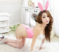 Sexy White Easter Bunny Girl Rabbit Play Boy Playgirl Ladies Fancy Dress Costume Q03