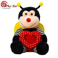 HuiBao Toys custom cute sand animal bee plush stuffed toys