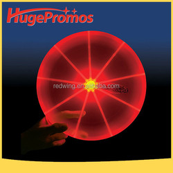 Plastic LED Frisbee Flashlight Customized Dog Flying Disc