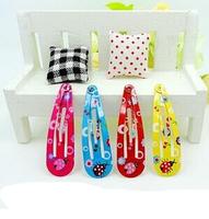 Lovely water dot spray-paint BB hair clips for children/custom kids BB hairpins