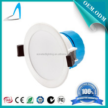 7W 10W 15W Plastic+Aluminum LED downlight low price high quality 3 years warranty China factory built-in trailing edge driver