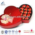 Embalagens de alimentos caixas de bolo corte a laser de casamento em forma de coração caixa de papel de chocolate atacado
