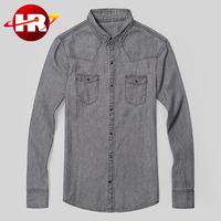 Pure cotton 12 oz men jean denim shirt in best washing effect