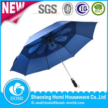 Rain Umbrella Windproof Vented Golf Umbrella 2 Fold Unique Golf Umbrella
