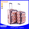 new product leather material suitcase lovely pictures customized design luggage suitcase trolley bag