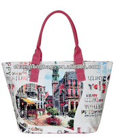 2014 High Quality and Hot selling city name printing canvas souvenir bag