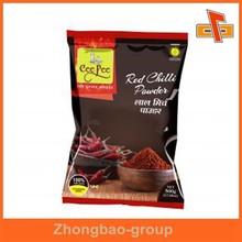 Gravure printing zipper top foil vacuum food packaging bag for paprika packaging
