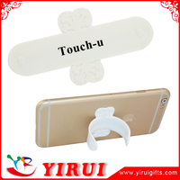 YJ004 One Touch U Phone Stand/Silicone Mobile Holder 3M sticky