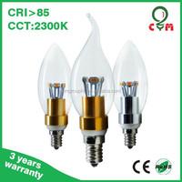 High quality manufacturer 2300k - 6000k 3w 4w 5w led candle bulb e10