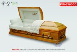 best adult casket PINECONE Teak casket Italian style casket