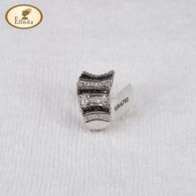 unique unisex design alloy Cooper with lab diamond CZ ring