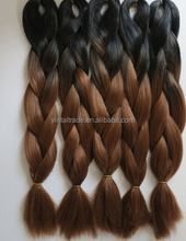 Black brown cheap hair synthetic braiding hair ombre color jumbo braid ombre hair extension make you shine like star